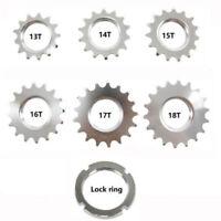 US_ 14/15/16/17/18T Fixed Gear Track Bike Single Speed 1/8inch Cog Lock Ring Eye