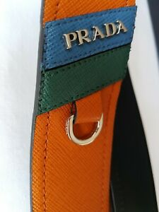 PRADA SAFFIANO LEATHER BAG SHOULDER STRAP in PAPAYA - BNWT