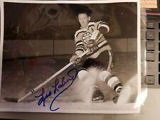Signed  8x10 LEO LABINE Boston Bruins Photo - auto
