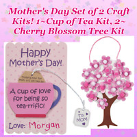 💌 2 Mothers Day Crafts! For Kids & Adult! Custom Card Kit + Cherry Blossom Tree