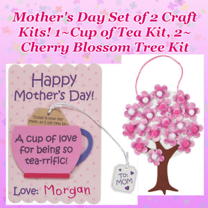 💌 2 Mothers Day Crafts! Custom Card Kit + Cherry Blossom Tree, 15% Off $35+!!