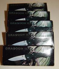 "*5*Pocket Knifes New in box Dragoon Ii Lockback, Frost small 3"" stainless steel"