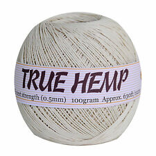 TRUE HEMP Ball - HempCreation- 630feet/ 192m- size 0.5mm/10lb- Natural hemp cord