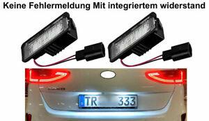 2x Top Weiß LED Nummernschildbeleuchtung Mit E-Zeichen Zulassungsfrei (VWPX18)