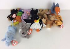 Vintage TY Teanie Beanies Mcdonalds Happy Meal Soft Toy Animals