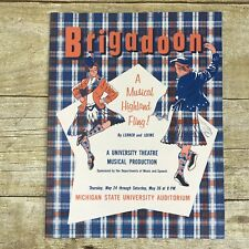 Vintage Theater Program Brigadoon May 1962 Michigan State University Production