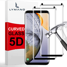 2x Panzerfolie Glas Samsung Galaxy S8 / S9 / Plus / S7 Edge S6 Schutzglas Curved
