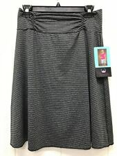 NEW Tranquility by Colorado Clothing Women's Stretch Skirt Black/Gray
