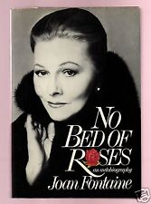 NO BED OF ROSES-ACADEMY AWARD ACTRESS-JOAN FONTAINE SIGNED VERY GOOD CONDITION