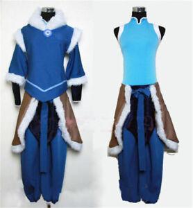 NEW ! The Legend of Korra Korra Suit Uniform Cosplay Costume Custom Made@