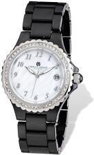 Ladies Charles Hubert Black Ceramic 38mm Watch