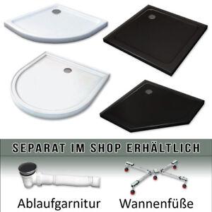 Siphon 80x80 90x90 6mm Rea Duschwanne  Duschtasse SAVOY BLACK SCHWARZ inkl