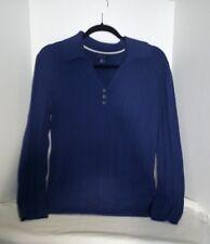 Tommy Hilfiger Sweater Womens Navy Blue V-Neck Knit, Jumper Sweater Collar Large
