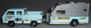 Matchbox Hitch & Haul Volkswagen Transporter Travel Trailer Blue Loose 2021