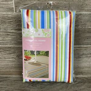 Colorful Striped Umbrella Tablecloth With Zipper - 52 x 70 inch - Patio Table