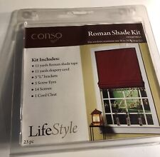 """Conso Roman Shade Kit window size 36"""" wide x 54"""" long 23 pieces New in package"""