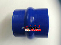 """BLUE 3"""" INCH 76MM Silicone Hose Straight Hump TURBO INTERCOOLER Coupler PIPE"""