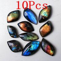 Wholesale Price !10Pcs Labradorite Freeform Pendant Mineral Specimen Spectrolite