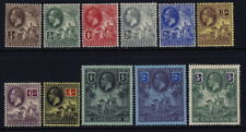 Barbados 116 to 126 complete set - mh sea horses - George V