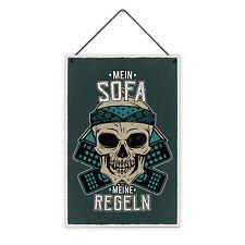 Sofa Regeln 20 x 30 cm Holz-Schild 8 mm Spruch Motiv Geschenk Mann Couch Einzug