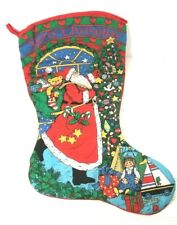 "Vintage 1995 Avon Santa Claus Christmas Stocking / Boots Large 29"" Tall RARE"