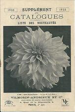 CATALOGUE VILMORIN 1935 Botanique jardinage fleur potager légume jardin