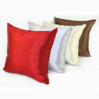 45x45 cm 6 Colors Faux Silk Plain Sofa throw Pillow Case Cushion Cover Square IO