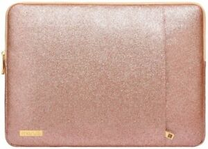 MOSISO Laptop Sleeve Compatible with MacBook Air 13 A2337 13-inch, Rose Gold