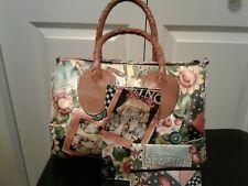 "Mary Engelbreit Nordic House Bag Purse ""Oh No"" + Check Cover Tissue Case Euc"