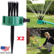 2Pcs Adjustable Lawn Sprinkler Automatic Garden Plant Watering Irrigation System