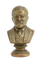 1st Half. 20th Century. Copper Miniature Bust of President Theodore Roosevelt.