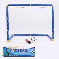1 Set Portable Children Mini Football Goal Post + Net + Ball + Pump Soccer Goal