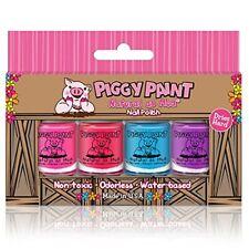 NEW Piggy Paint 4 Pack Kit Non Toxic Nail Polish  Safe Chemical Free…