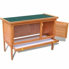 vidaXL Outdoor Rabbit Hutch Small Animal House Pet Cage Carrier 1 Layer Wood