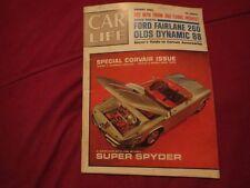 1962 CAR LIFE MAGAZINE W 1963 FAIRLANE 260 CORVAIR SUPER SPYDER ISSUE AUGUST 62