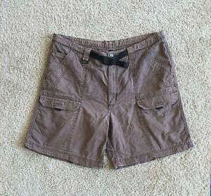 Wrangler Hero Cargo Shorts Men's XL Brown Belted Cotton Shorts