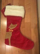 New Pottery Barn Kids~ Rudolph ~Red Velvet Reindeer Christmas Stocking Sherpa
