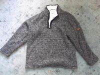 Women's ORVIS fleece lined pull-over sweater jacket Sz. XL