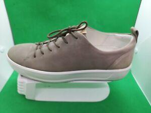 ECCO Soft 8 Men's Fashion Sneaker Size 10 Moon Rock Leather P 44050411459 Danish
