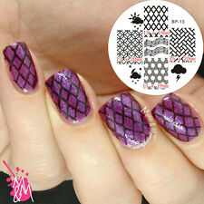 Nagel Schablone BORN PRETTY Nail Art Stamp Stamping Template Plates BP-13