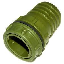 Conector recto verde 50 mm con rosca exterior