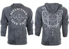 AFFLICTION Mens HOODIE Sweat Shirt Jacket ROYALE RUST $75