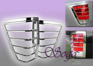 FOR 2004-2015 NISSAN TITAN CHROME TRIM BEZEL TAIL LIGHTS COVER COVERS NEW LOOK
