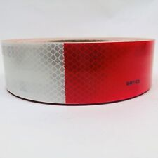 CONS-US711 TAPE ROLL CAUTION SAFETY WARNING REFLECTIVE RED AND WHITE 50YD / 150'