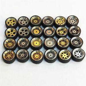 1/64 Scale Alloy Wheels - Custom Hot Wheels, Matchbox,Tomy, Rubber Tires
