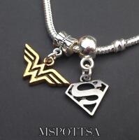 PENTAGRAM/_Bead for Silver European Chain Charm Bracelet/_Wiccan Pagan Samhain/_R24