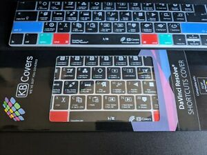 "KB Covers DaVinci Resolve Shortcuts Cover 13,15"" MacBook pro Magic keyboard"