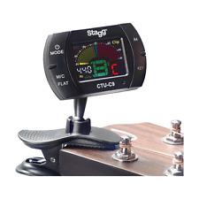 Accordeur Chromatique Automatique Multifonction avec Microphone à Pince Noir