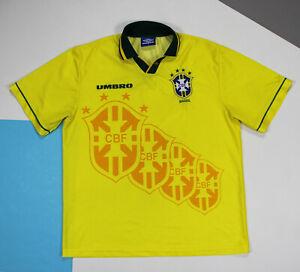 Vintage 1994 - 1995 Brazil Home Football Soccer Shirt Jersey (size L)