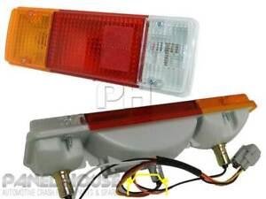 Tail Lights PAIR with Square Plug fit Fits Toyota Landcruiser 70 75 78 79 Series